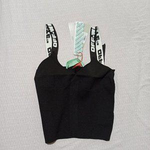 off-white tshirt black tee sport